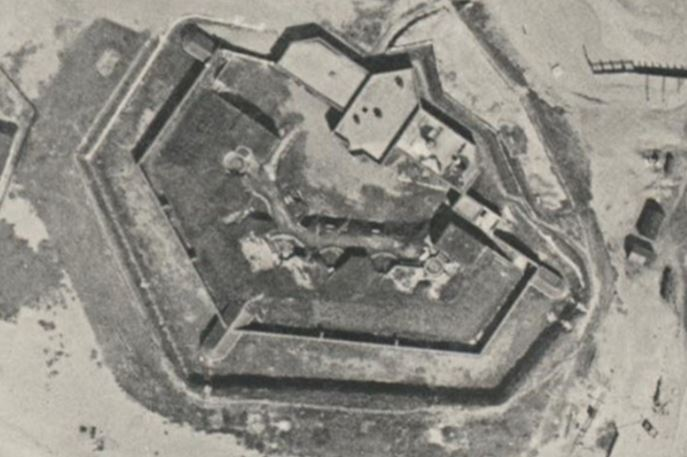 Shoreham Fort as it used to look from the sky