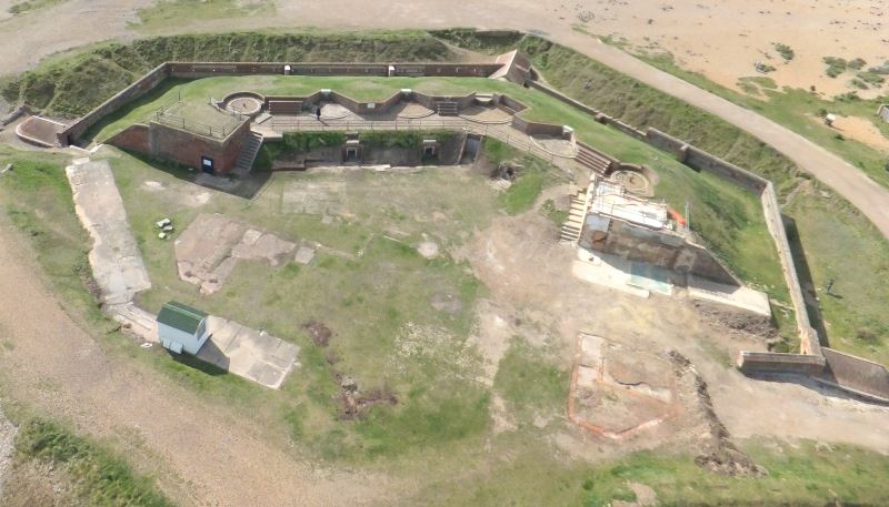Shoreham Fort as it currently is from the sky
