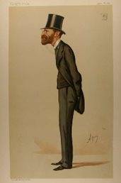 Sir Julian Goldsmid portrayed in Vanity Fair, Published 23-Apr-1887