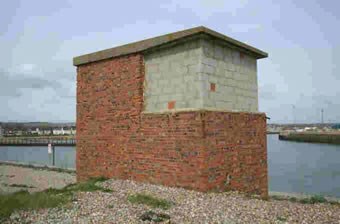 Bricked up search light tower at Shoreham Fort