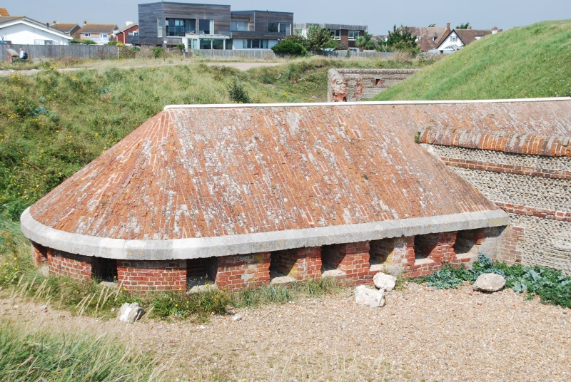 View of the south caponier at Shoreham Fort
