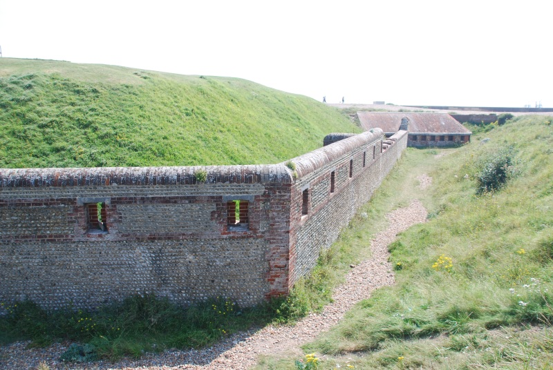 View from the west of the Carnot Wall, at Shoreham Fort