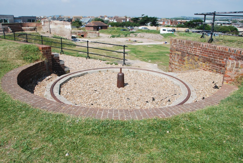 A view of gun emplacement number 1, at Shoreham Fort